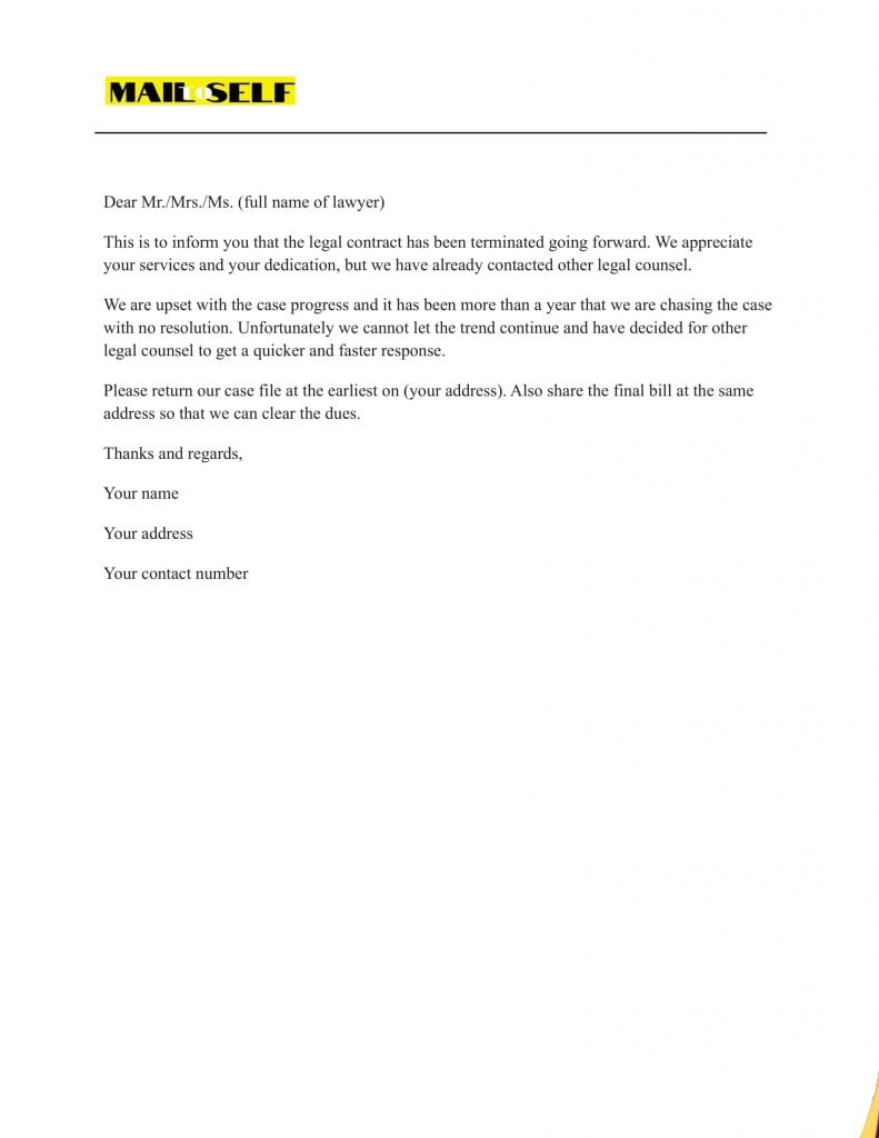 Sample # 2 How to Efficiently Draft an End of Representation Letter