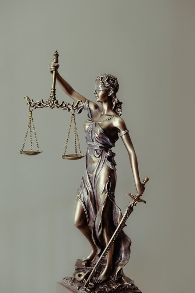 The Law being upheld by Lady Justice