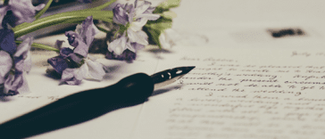 A pen on a paper to write a thank you letter to father-in-law