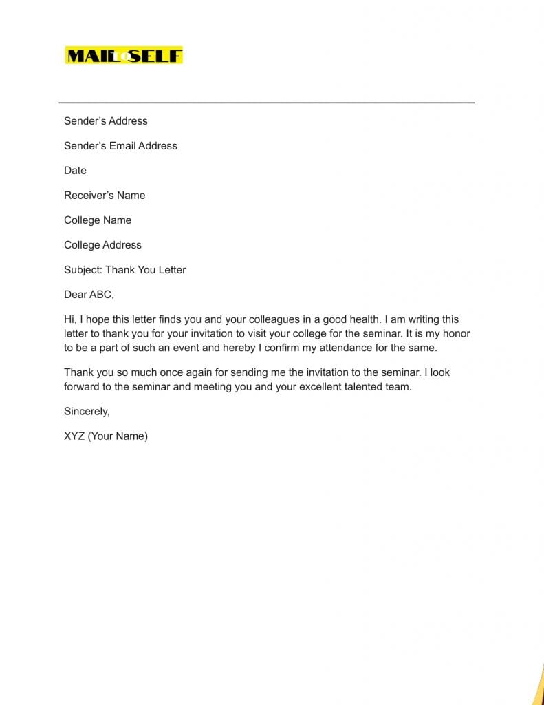 Sample #5 for Thank You Cover Letter