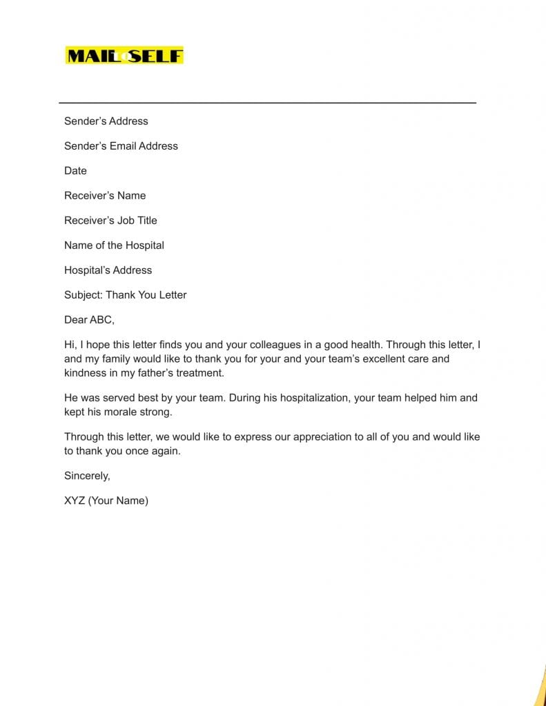 Sample #6 for Thank You Cover Letter