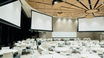 Photo of an empty conference room