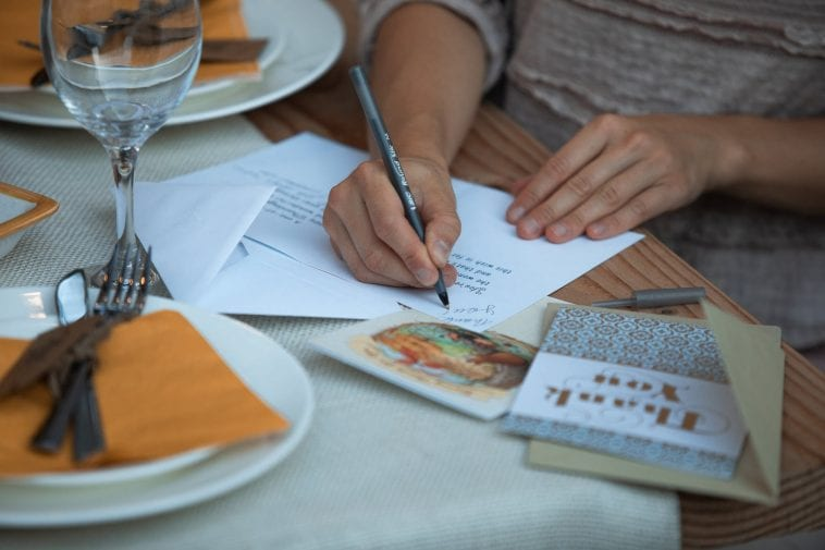 Writing your letters out on nice stationery is very thoughtful