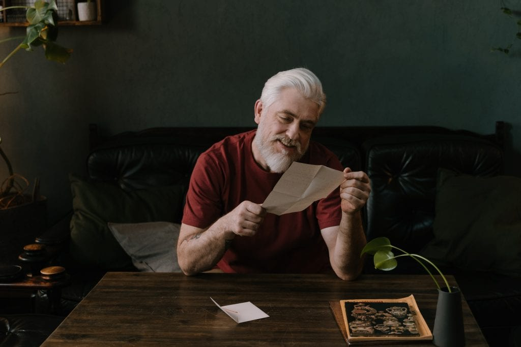 Writing a thank you letter to your grandparents makes them feel appreciated