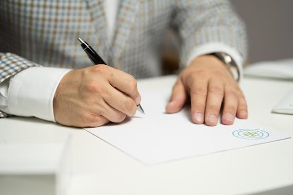 Writing to get a court disposition