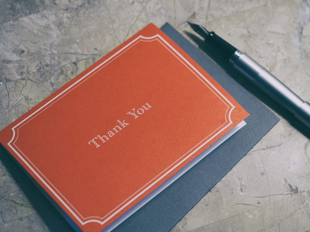 Sample #1 Thank You Note for Recommendation Letter