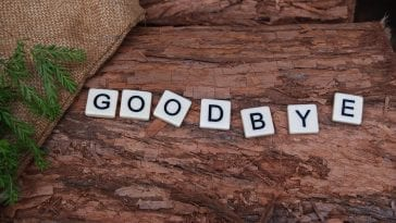 Writing a reply to the letter of goodbye